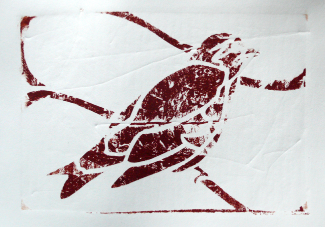 Collagraph bird